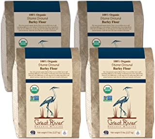 product image for Great River Organic Milling Organic Barley Flour, 5 Pound (Pack of 4)