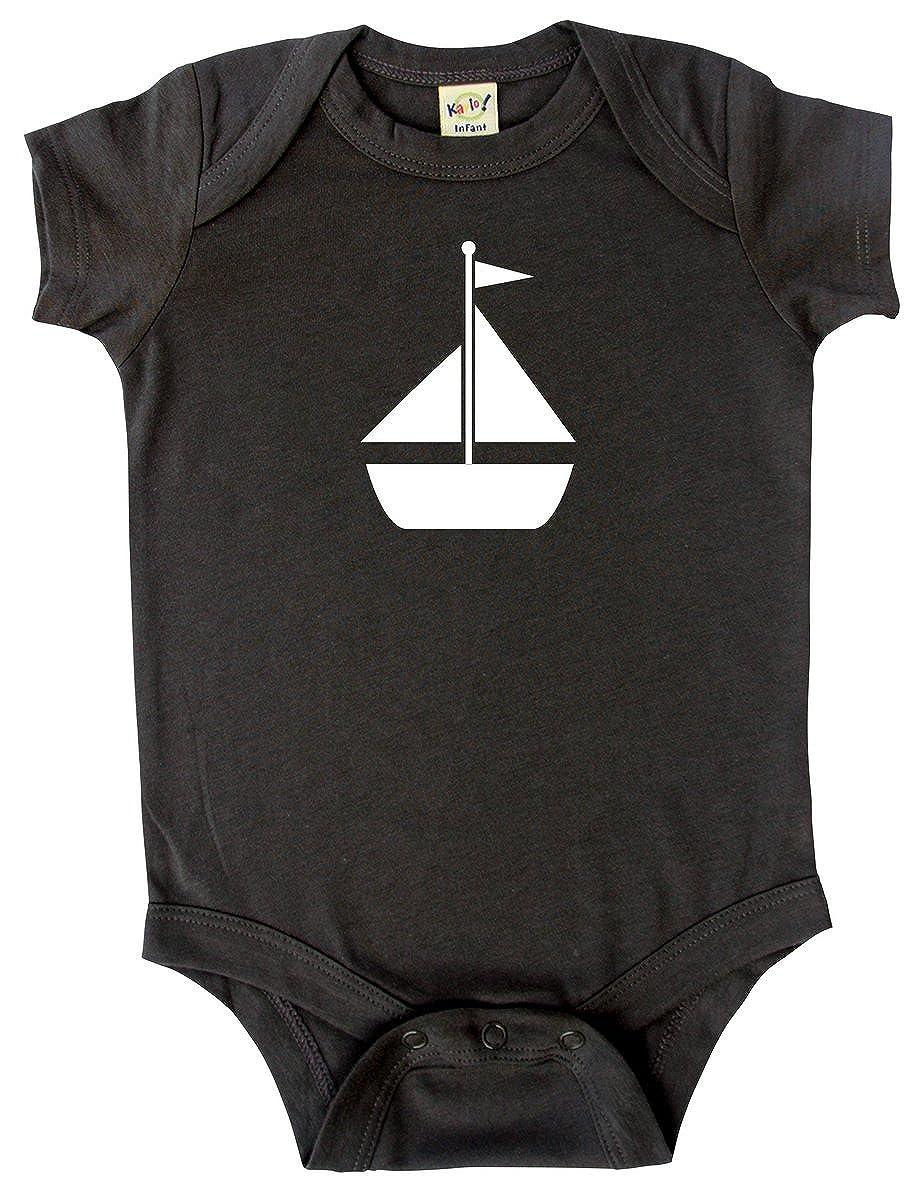 Transportation Silhouette Baby Bodysuit Graphic Shirts-Sailboat