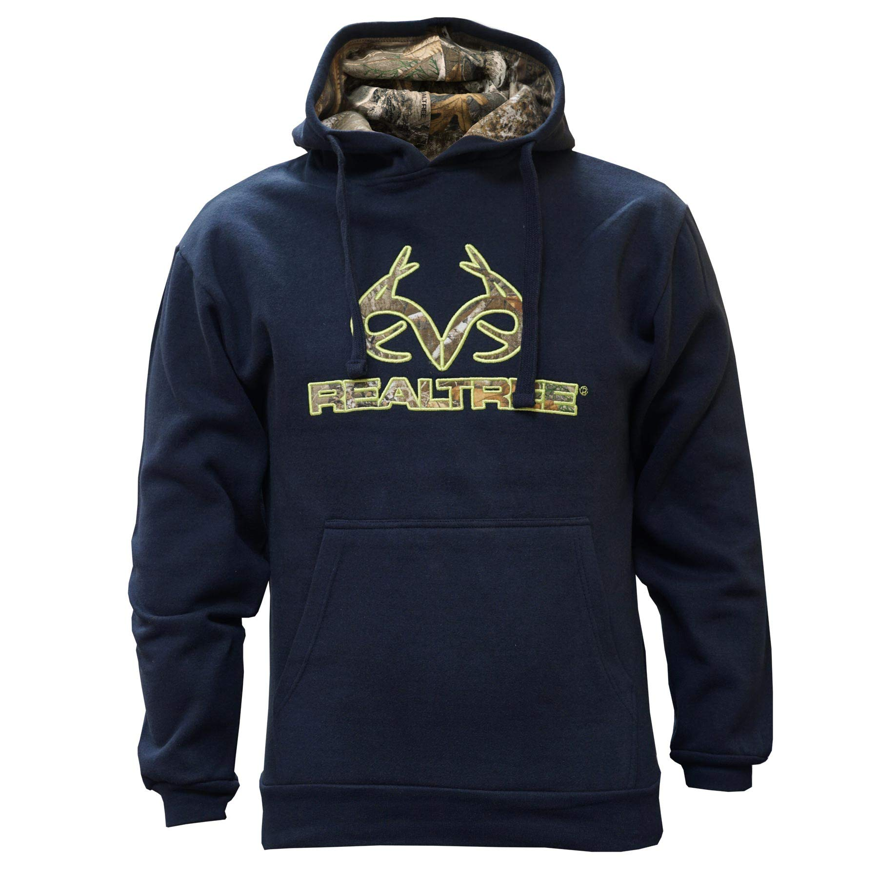Staghorn Realtree Men's Fleece Applique Hoodie, Airforce Blue, Large