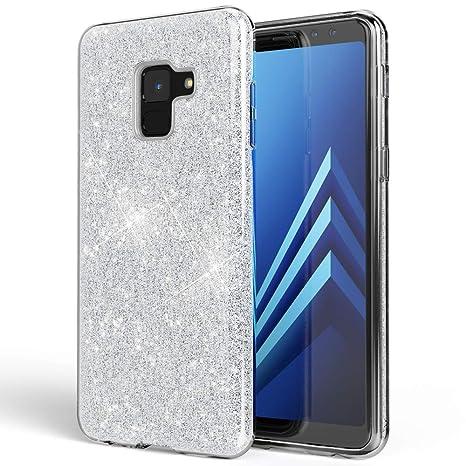 4d96cb11c127 NALIA Coque Silicone pour Samsung Galaxy A8 (2018), Fine Glitter Housse  Protection Case