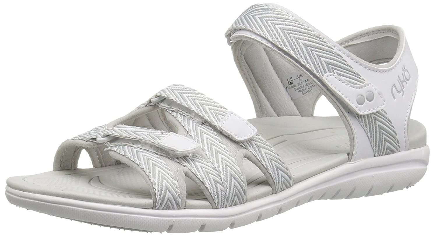 Ryka Women's Savannah Sandal B01KWH5F8W 8 B(M) US|White/Grey