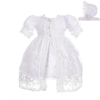 272f503ddb47 Amazon.com  Dressy Daisy Baby Girls  Baptism Dress Christening Gown ...
