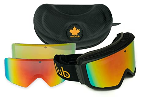 f06e9b22c66a Canada Goggle Bundle - Magnetic Dual-Layer Ski Goggles and Snowboard Goggles  with Extra Lens and Hard ...