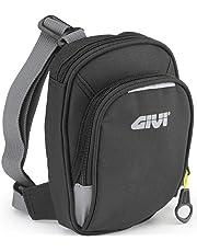 Givi EA109B Easy Bag Bolsillo de Pierna Negro con Dos Ranuras, Volumen 1 Litro, Carga Máxima 1 Kg