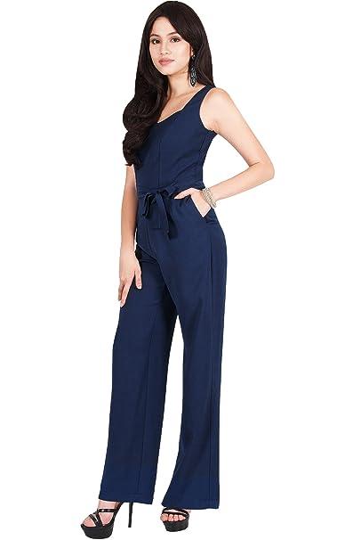 agreatvarietyofmodels great variety models most desirable fashion Viris Zamara Womens Long Sleeveless V Neck Slimming Pockets Belt Dressy  Jumpsuit