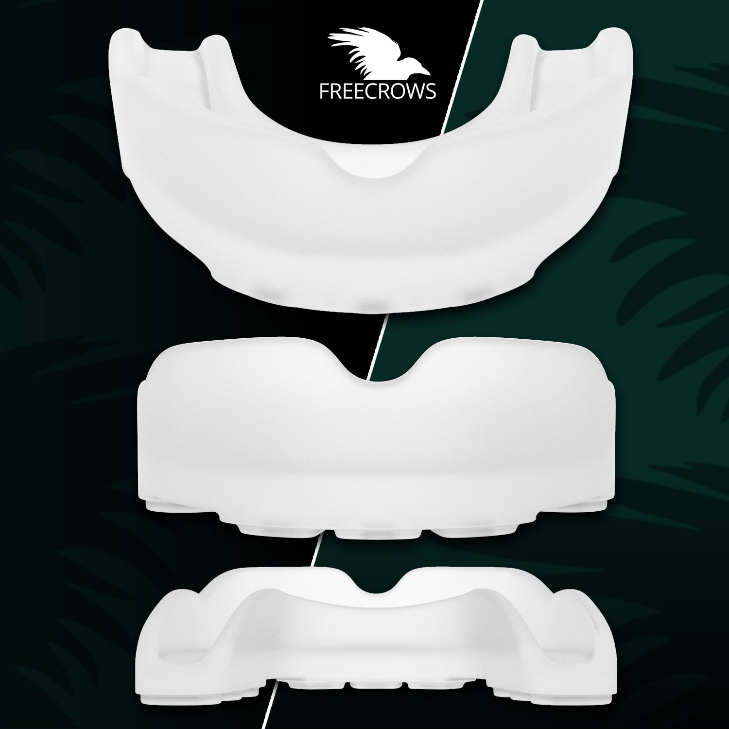 MMA Mouthguard / Adult Mouth Guard - 2x Gum Shield Teeth Protection for all Contact Sports and Game - UFC , Boxing , Taekwondo , Martial Arts , etc.- Two Mouthguards for Women and Men by Freecrows by FREECROWS (Image #4)