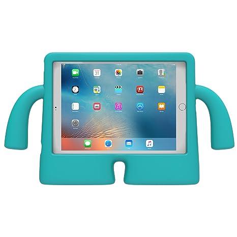 Speck Funda Vertical de Espuma iGuy de iPad Pro, Air 2, Air, 9.7in para niños - Azul Caribe