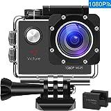 """Victure WIFI Action Cam Full HD 1080P Sport Action Camera Impermeabile 2 """"LCD 170 ° Gradi con 2 Batteria 20+ Kit Accessori"""