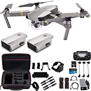 DJI Mavic Pro Platinum with Extra Battery and Professional Case, Flagship 4K Quadcopter Drone with 30 Mins Flight Time, 7 km
