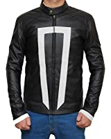New Ghost Rider Agents Of Shield Black Jacket - Gabriel Luna Mens Leather Costume