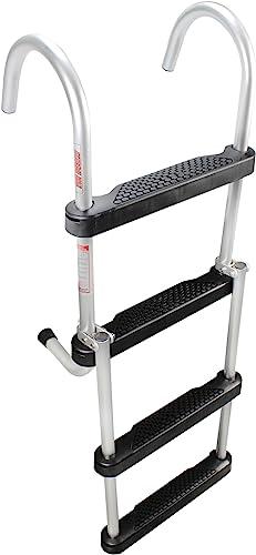 Folding 4-Step Pontoon Boat Gunwale Ladder for Swim or Bording [Extreme Max] Picture