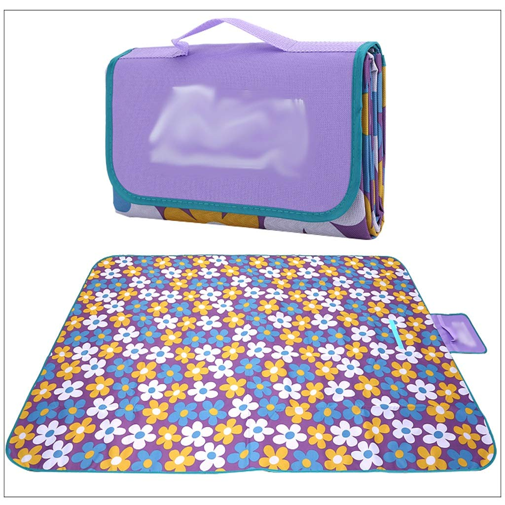 NLXTXQC Outdoor Picnic Blanket Waterproof Thickening Portable Folding Lawn Mat Acrylic Picnic Cloth Bottom (Color : D) by NLXTXQC