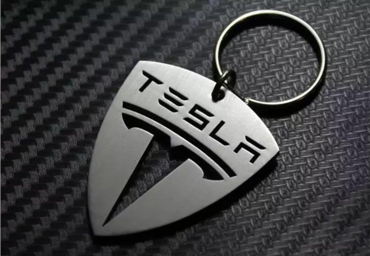 Tesla Premium Key Chain - Stainless Steel Cut Out SMTKEYDESIGNS