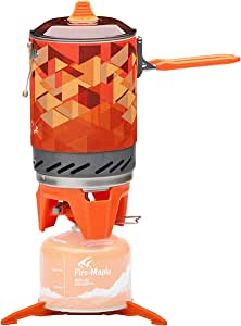 """Fire-Maple """"Fixed-Star 2"""" Personal Cooking System Stove w/Electric Ignition, Pot Support & Propane/Butane Canister Stand   Jet Burner/Pot System for Backpacking, Camping, Hiking, Emergency Use"""