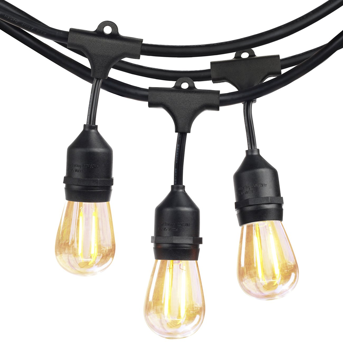 shine hai outdoor led string lights commercial grade 16 x s14 2w