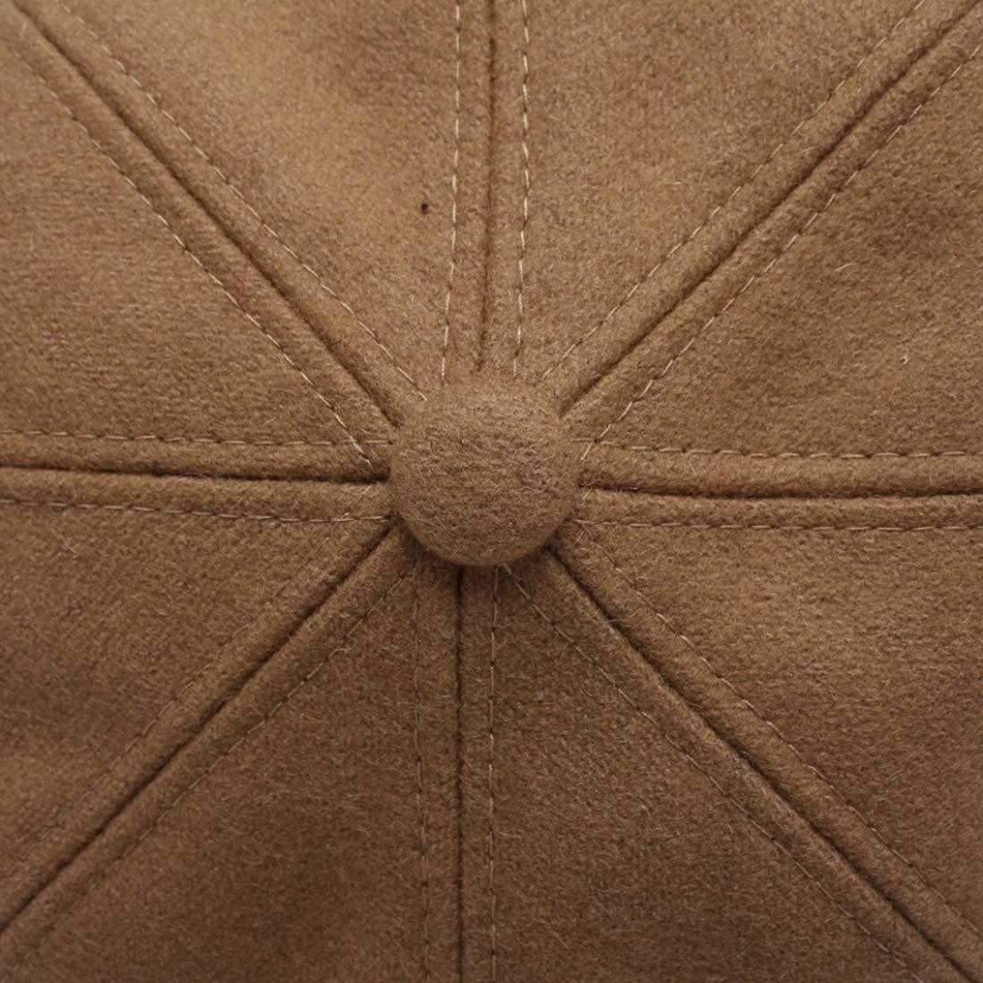 Women Winter Wool Newsboy Caps Vintage Solid Color Octagonal Hats Female Autumn Berets Hat Chapeau