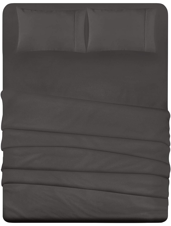 Utopia Bedding 4-Piece King Bed Sheets Set (Dark Grey)