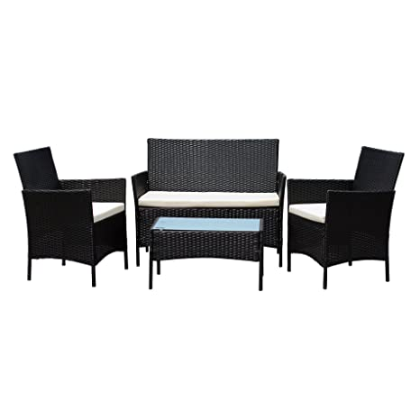 1c5dc5fab98 Image Unavailable. Image not available for. Colour  EBS Rattan Patio Garden  Furniture Sets Patio Furniture Set Clearance Sale ...