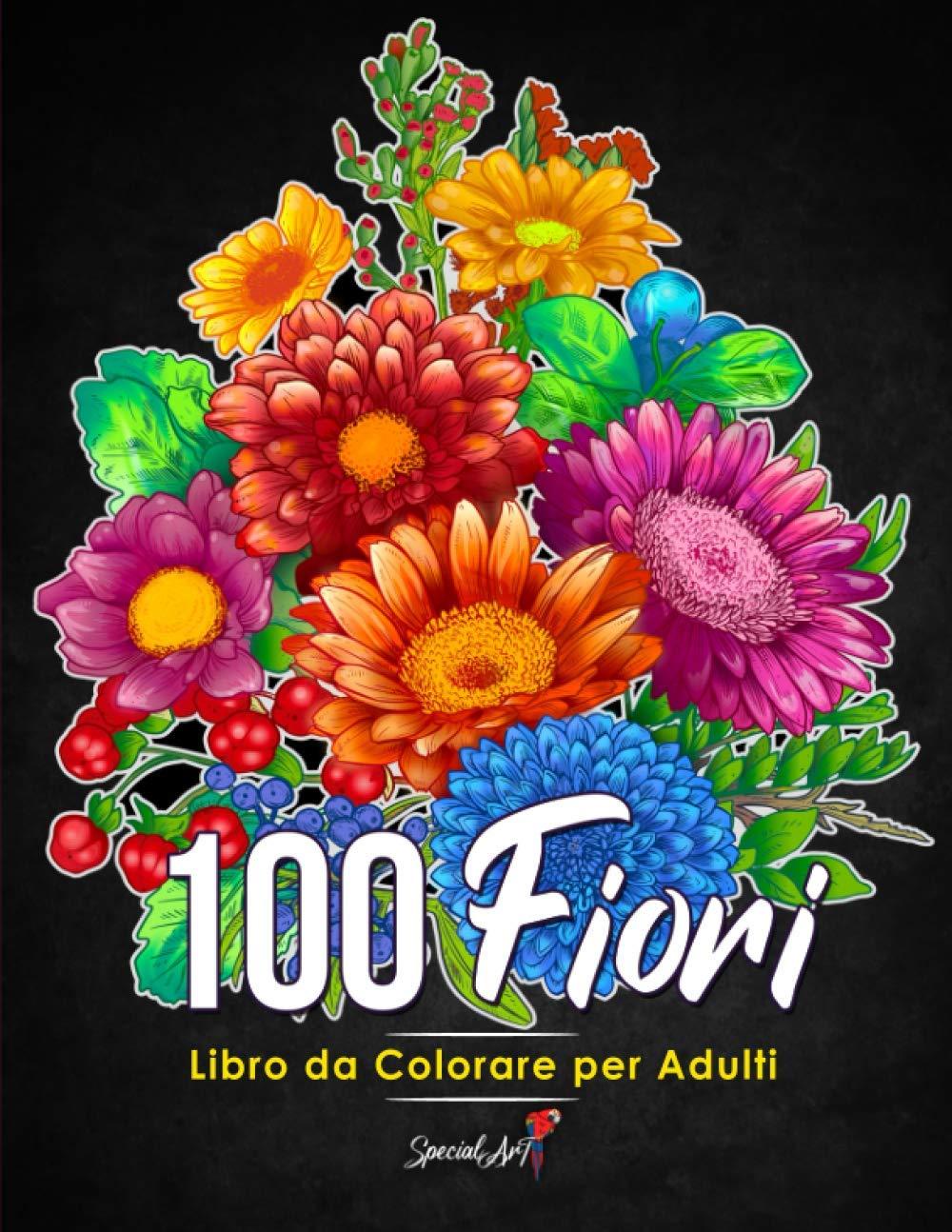 100 Fiori – Libro da colorare per Adulti