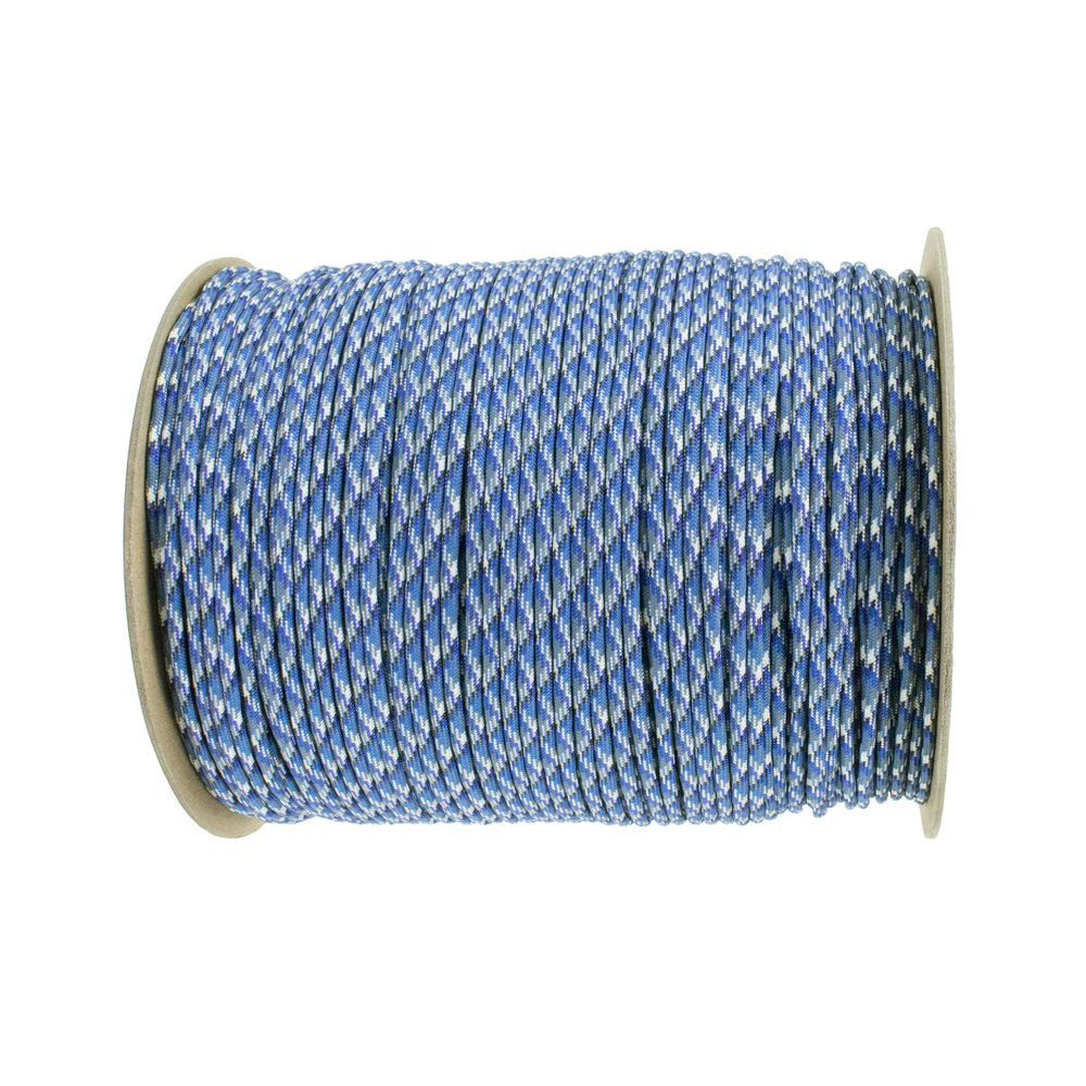 Paracord Planet Nylon 7 Type III Strand Inner Core Paracord - 100 Feet, Bucky Blue Camo by PARACORD PLANET (Image #1)