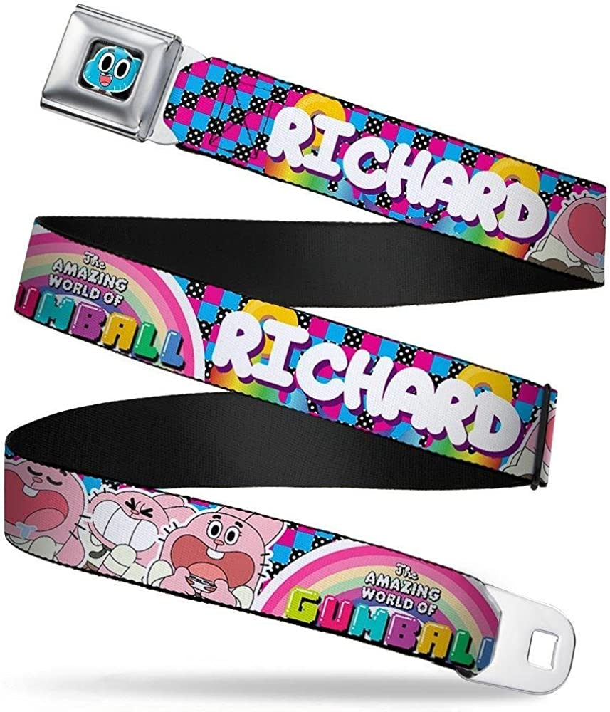 24-38 Inches in Length TAWG RICHARD Poses Multi Color 1.5 Wide Buckle-Down Seatbelt Belt