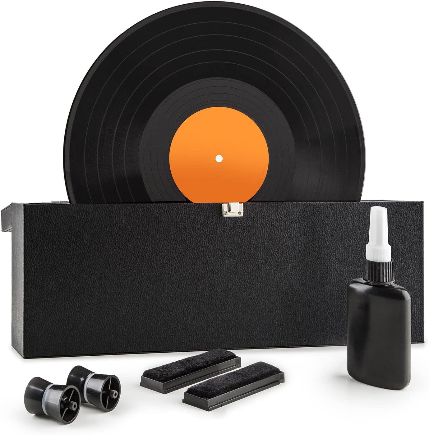 Auna Vinyl Clean Máquina Limpia vinilos (para Discos de 7