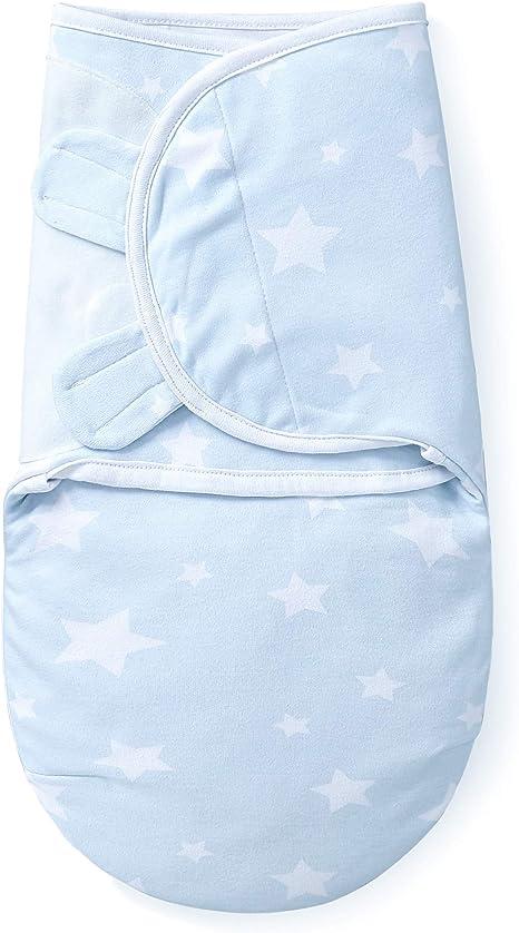MioRico Manta Envolvente para Bebé Invierno Baby Swaddle Blanket para Bebes 100% Algodon Organico de 2 Capas Recien Nacido Pijama Saco de Dormir 50cm ...