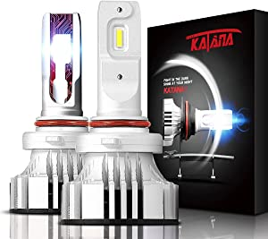 KATANA 9005 HB3 LED Headlight Bulbs - CREE Chips w/Adjustable Beam - 12000Lm 6500K Extremely Bright Conversion Kit