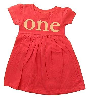 3a50c879 Amazon.com: Custom Kingdom Baby Girls One 1-Year-Old Birthday Dress ...