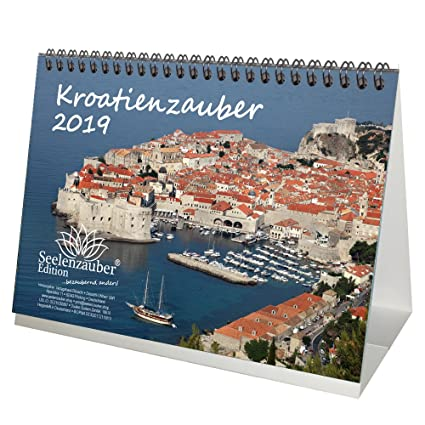 magic croatia din a5 premium desk calendarcalendar 2019 croatia zagreb