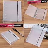 3 Types 6 Ring Stretchable Binder Cover White for