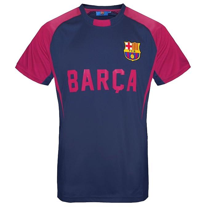 FC Barcelona - Camiseta oficial para entrenamiento - Para hombre - Poliéster - Azul marino -