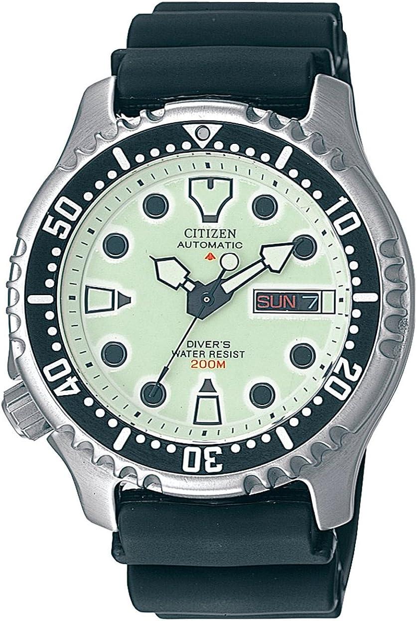 Citizen NY0040-09W - Reloj analógico automático para Hombre, Correa de Poliuretano Color Negro