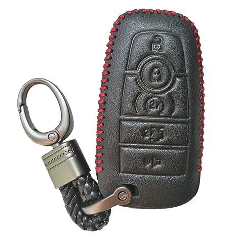 Amazon.com: Funda protectora de piel para llave de Ford ...