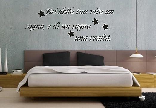 """7 opinioni per wall stickers Adesivo murale """"Fai della tua vita un sogno …… """" frasi, dsideri,"""