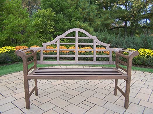 Oakland Living King Louis Cast Aluminum Bench