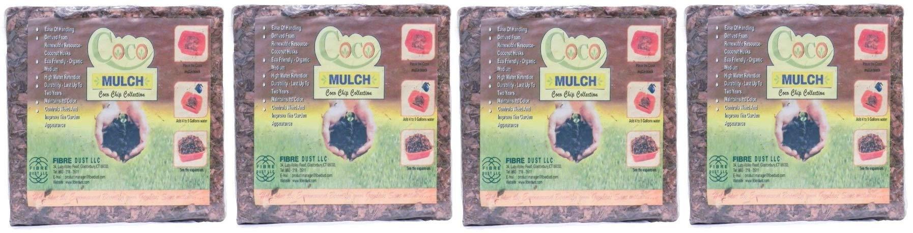 FibreDust Coco Mulch, 11- Pounds (Fоur Paсk)