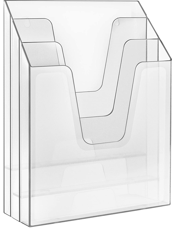 Acrimet Vertical File Folder Organizer (Clear Crystal Color) 864-1