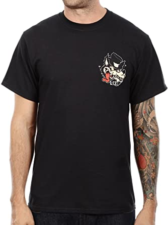 Lucky 13 Mens No Club Top Hat Lone Wolf T-Shirt Black S