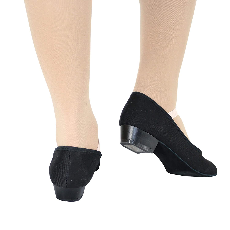 Danzcue Adult Canvas Elastic Strap Character Teacher Shoes