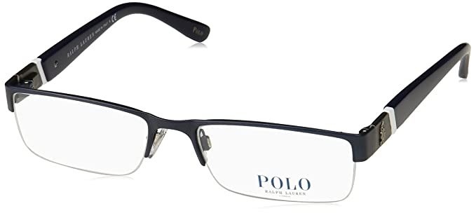 73fc9a6506ca Eyeglasses Polo PH 1117 9119 MATTE BLUE at Amazon Men's Clothing ...
