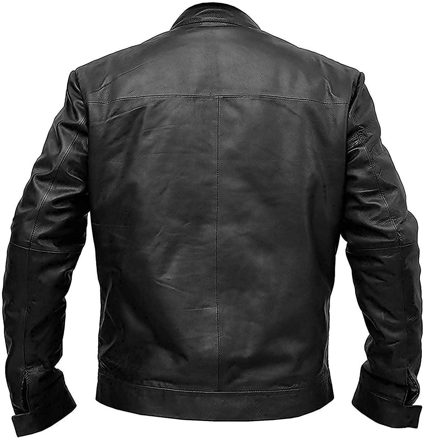 Mens Tom Cruise Mission Impossible 6 Ethan Hunt Black Real Leather Jacket