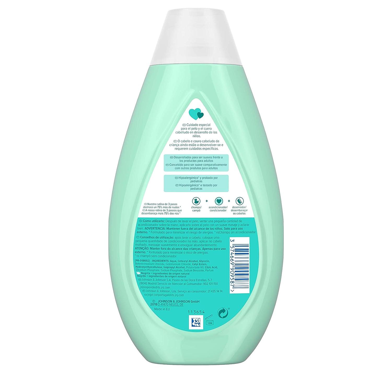 Johnsons Baby - Acondicionador No Más Tirones para Niños, 3 x 500 ml