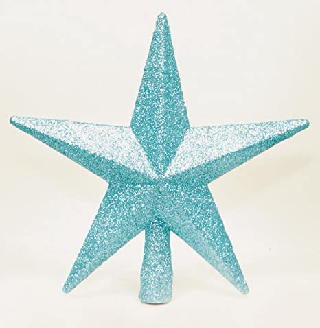 by Premier 20cm Ice Blue Glitter Star Christmas Xmas Tree Topper Decoration