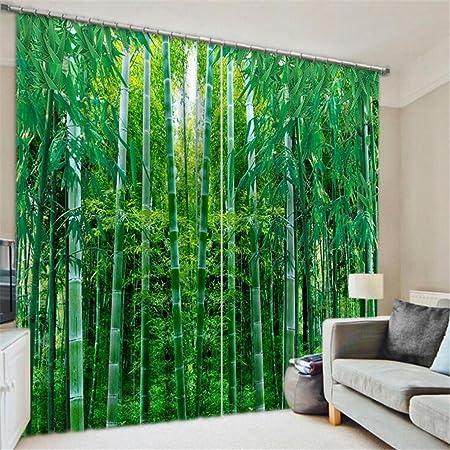 STEAM PANDA Cortina Verde bambù Poliestere Europeo-Stile ...