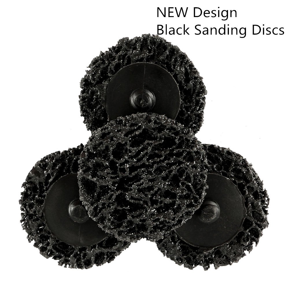 35Pcs Sanding Discs 2 inch Quick Change Discs,Surface Conditioning Discs, with 1/4 inch Tray Holder, for Surface Prep Strip Grind Polish Finish Burr Rust Paint Removal, by Wrightus by Wrightus (Image #4)