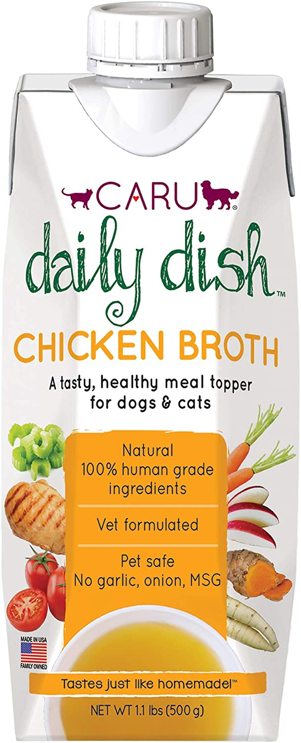 CARU Daily Dish Chicken Broth Meal Topper for Dogs and Cats - 1.1 lbs., 00851395005848