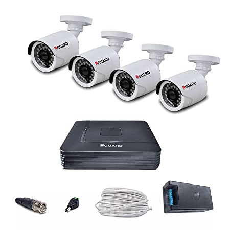 iBall 2.0 MP 1080P HD CCTV Camera Kit with 4 Channel HD DVR (Multicolour) Dome Cameras at amazon