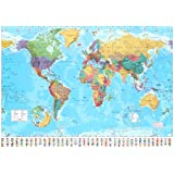Laminated World Map 2015 Giant Poster 55 x 39in
