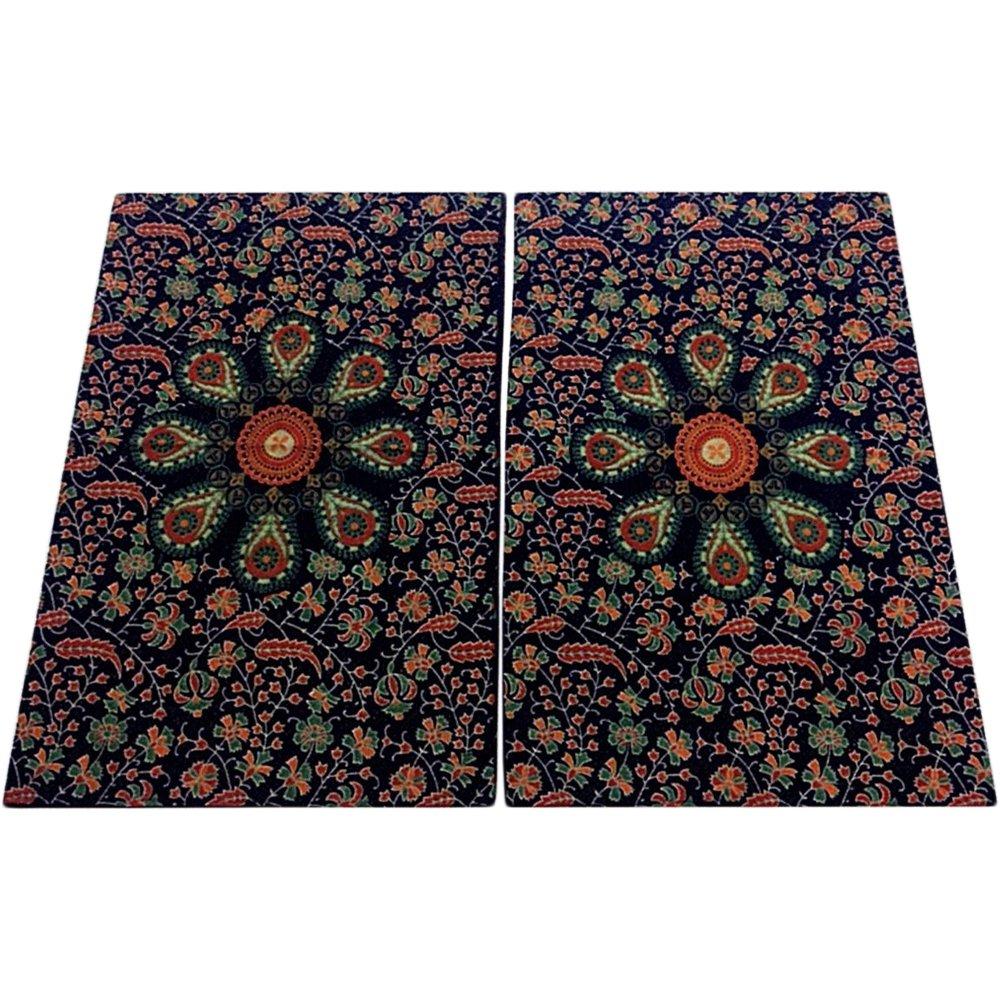 Bohemian Peacock Paisley Print Cotton Bedspread Bedding 3 Pcs Set King Size by Padma Craft (Image #2)